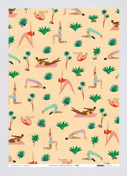 Yoga Wrapping Paper x 3 Sheets