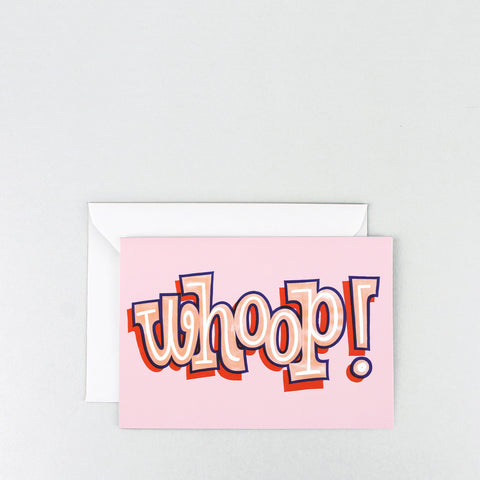 'Whoop!' Greetings Card