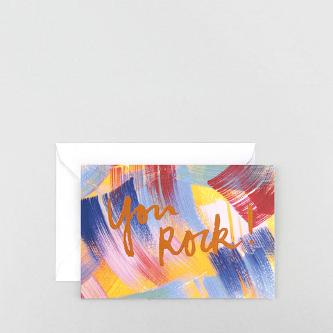 'You Rock!' Foiled Greetings Card
