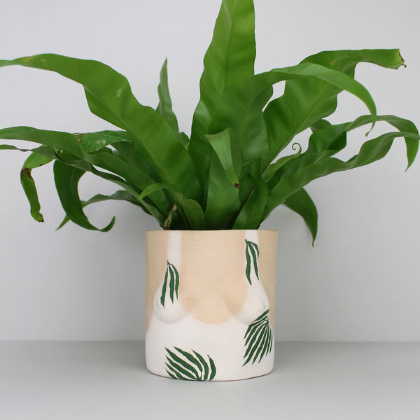 'Leaves' Ceramic Plant Pot