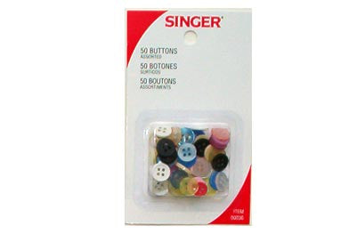 Assorted Buttons 50 Pack  (Set of 12)