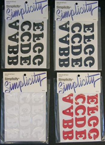 Simplicity Iron-On Initials (Case of 48)*