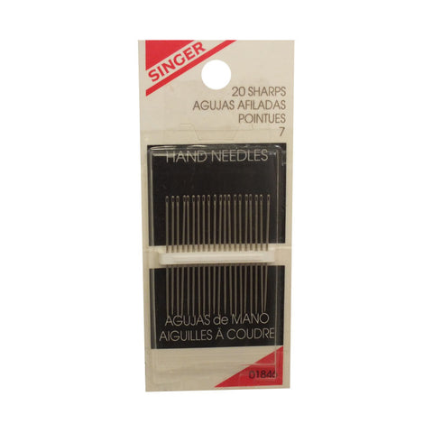 Singer Sharps Needles, 20pk (Case of 48)*