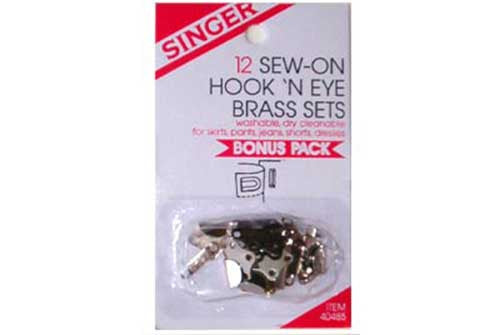 Sew-On Hook N' Eye (Box of 12)