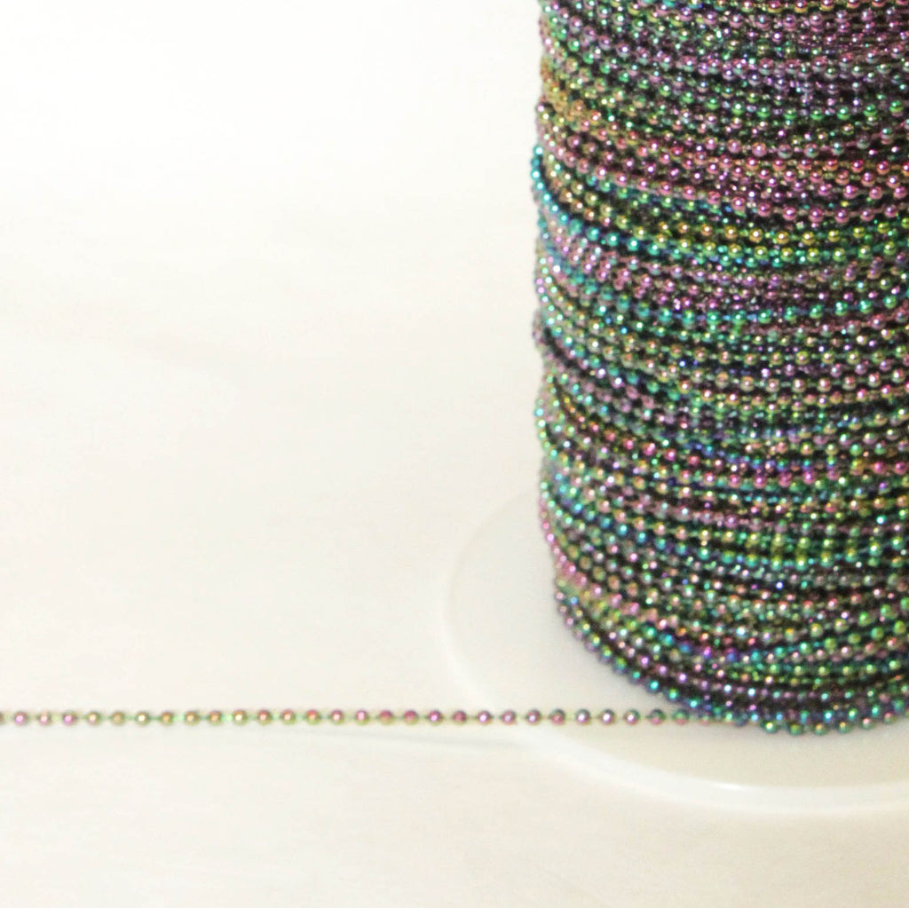 2.5mm Round Iridescent Faux Pearls (200 yards)  *FIVE COLORS*, #11169