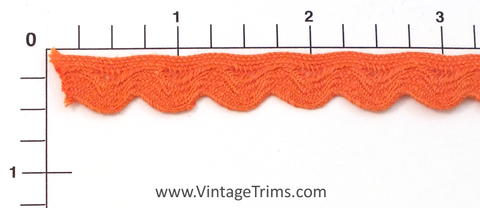 "Ric Rac w/Lip 7/16"" (Per Yard) Orange"