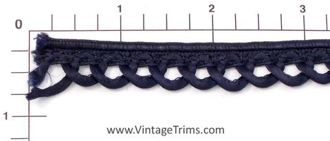 "Braid Edge Loop Fringe Fabric Trim 1/2"" (Per Yard) 2 Colors"