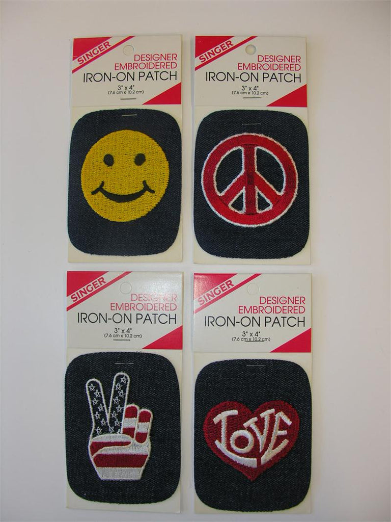 Singer Designer Embroidered Iron-On Patches - (Box of 12)