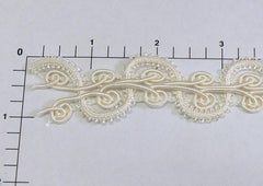 """S"" Mini-Loop Braid 1"" (Per Yard) White"