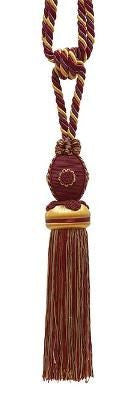 "Baroque Collection 10"" Single Tieback/Tassel, Autumn Leaves"