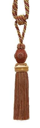 "Baroque Collection 10"" Single Tieback/Tassel, Cinnamon Toast"