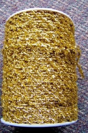 Sparkle Metallic Gold Elastic Cord, 250 Yds (1 Roll)