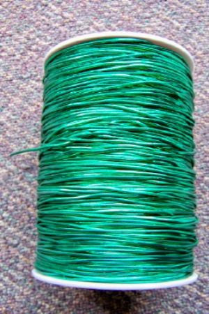 Shiny Metallic Green Elastic Cord 500 Yd Roll Each