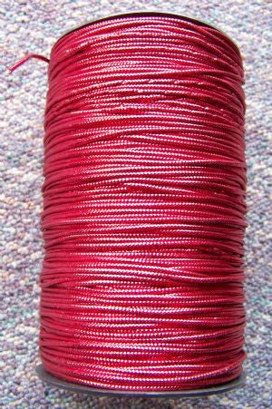 Metallic Red Non-Elastic Cord, 250 Yd. Roll - Each*