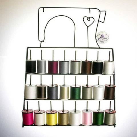 Metal Thread Rack w/ 24-Spool Thread Assortment *