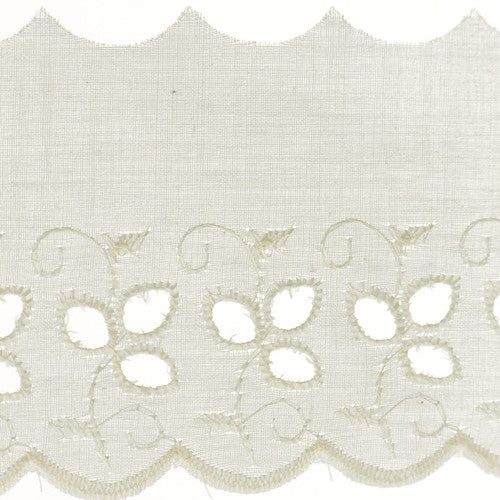 "3 1/4"" Lace- Eyelet Fabric Trim"
