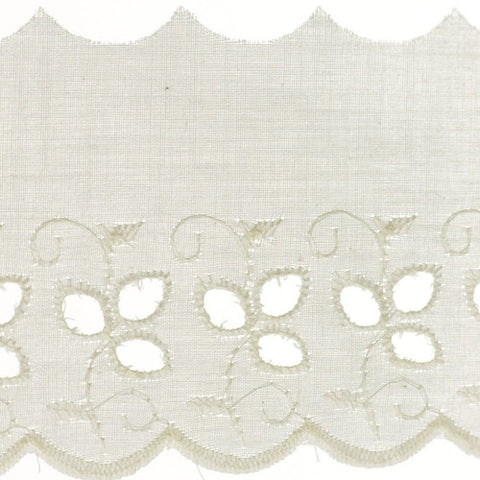 "Eyelet Lace 3-1/4"" (Per Yard) Natural"