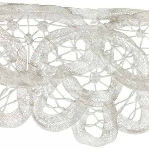 "Flat Lace 3-1/2"" (Per Yard) White"