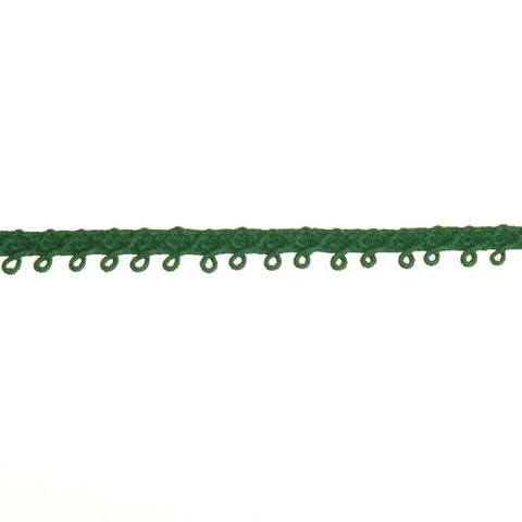 "Loop Fringe Fabric Trim 3/8"" (Per Yard) Kelly Green"