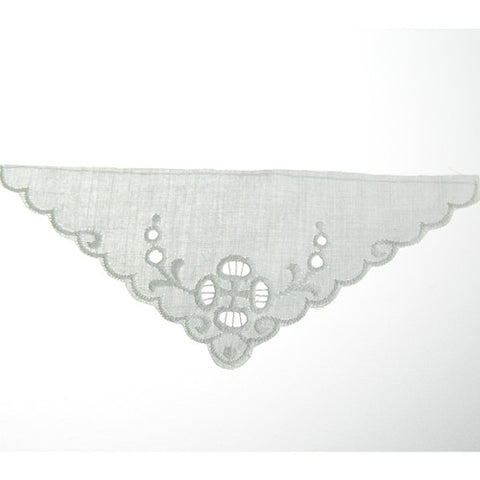 Triangle Eyelet Lace Applique (12 per bag) White
