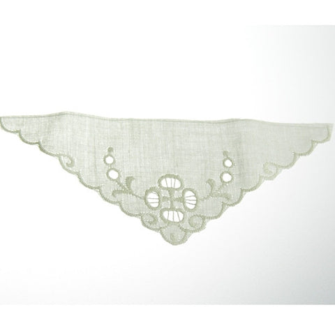 Triangle Eyelet Lace Applique (12 per bag) Ivory