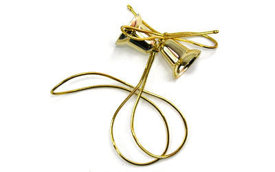 "Gold Bells w/14"" Stretch Loop (Case of 100)*"