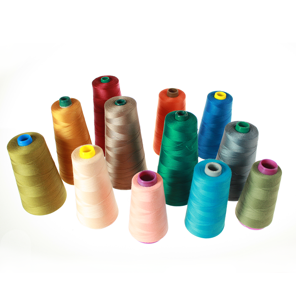 Colored Cone Thread Assortment, Commercial Grade (Case of 180,000 yards)*