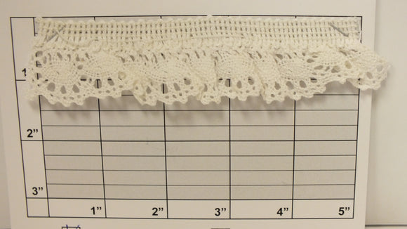 Ovals Scalloped Edge Stretch Cluny Lace 1-3/8
