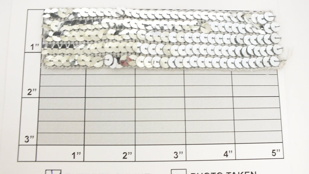 "Non-Stretch Sequin 1-1/2"" (Per Yard) Silver"