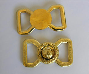 Plastic Gold Buckle, Versace Style (Box of 25)