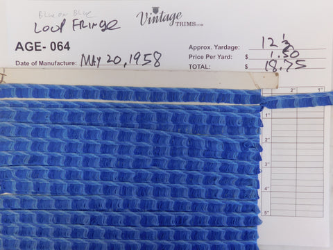 "Card of 1/2"" Blue Ox Blue (approx. 12 1/2 yards)"