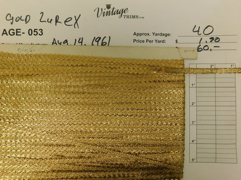 "Card of 1/2"" Gold Lurex (approx. 40 yards)"