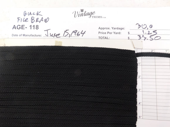Card of Black File Braid (approx. 30 yards)