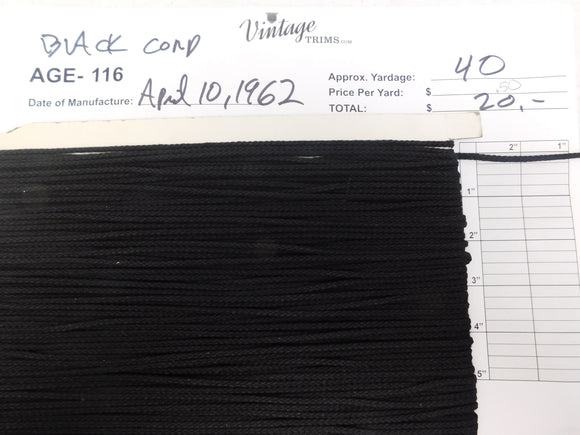 Card of Black Cord (approx. 40 yards)