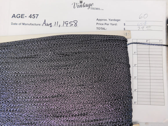 Card of Black and Silver Braid (approx. 60 yards)