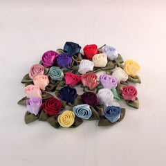 "Fabric Rosette, 1-1/4""  (25 colors)"