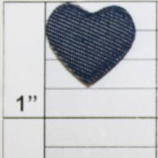 Denim Heart applique 2 colors (6 per bag)