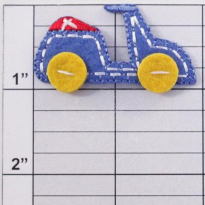 Toy vehicles appliques 3 styles