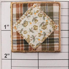 Patchwork square applique 2 colors