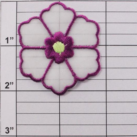 "2"" flower applique 9 colors"