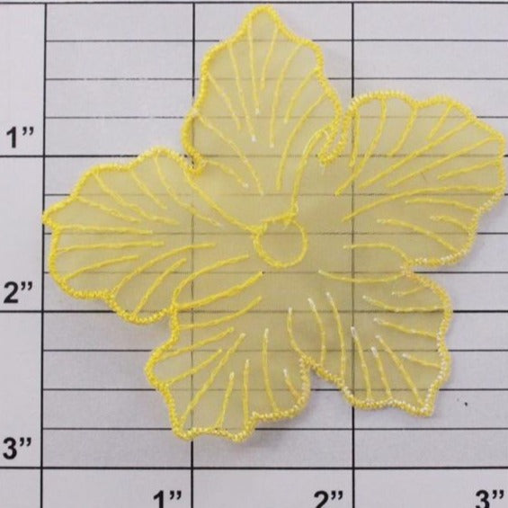 "3"" nylon flower applique 6 colors"