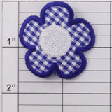 Plaid Flower Applique 3 colors