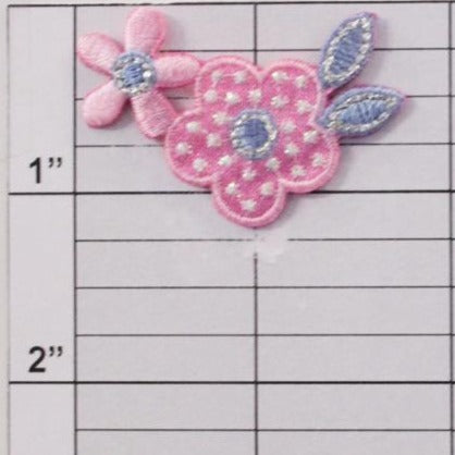 Polka dot flower applique 4 colors