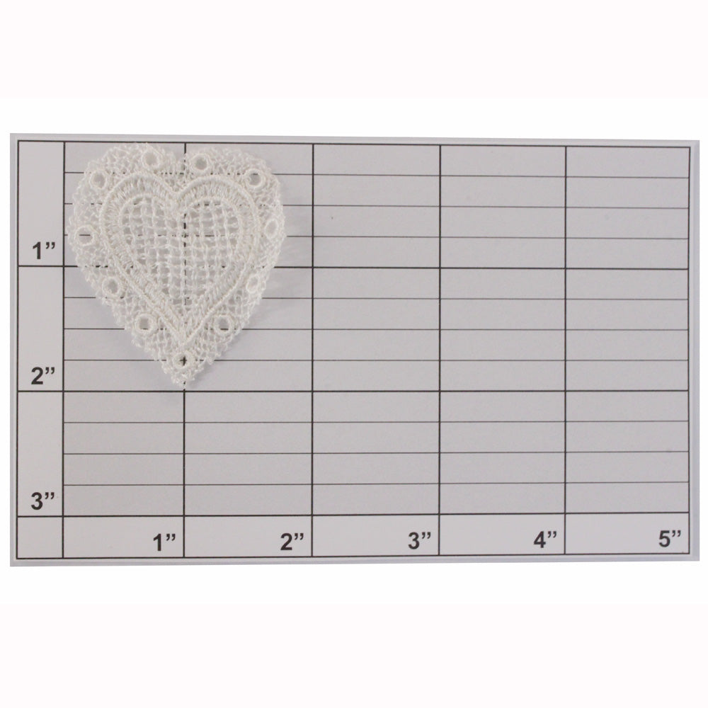 Lace heart applique 2 colos