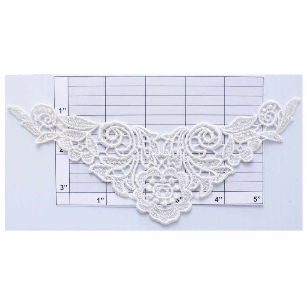 Embroidered collar pieces 2 colors