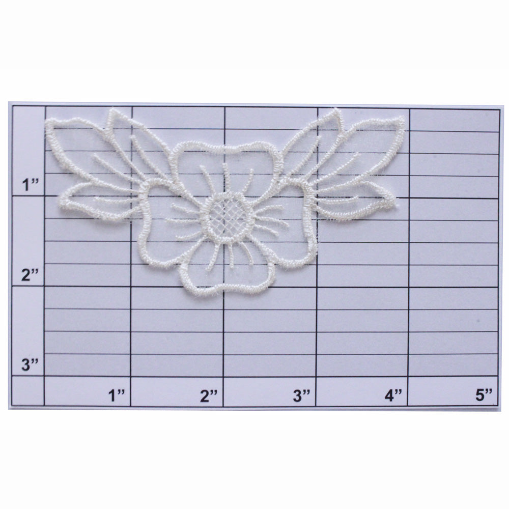 Sheer flower applique 2 colors