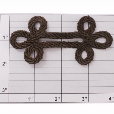 "4"" figure 8 applique 2 colors"