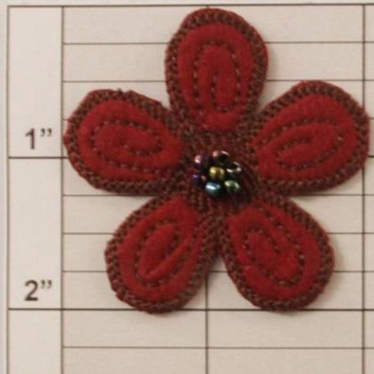 "2"" flower applique 4 colors"
