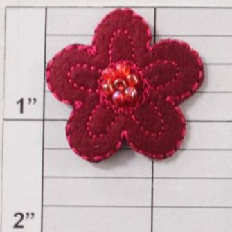 "1-1/4"" beaded flower applique"