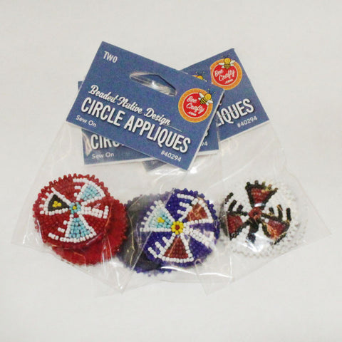 "1-1/2"" Beaded Native Circle Appliques"